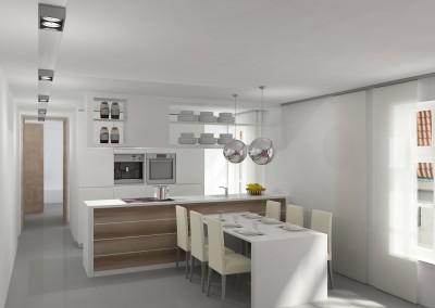keuken wit met hout accenten
